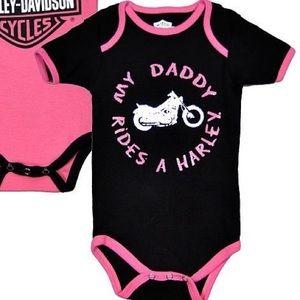 Harley Davidson baby onesie 3-6 months